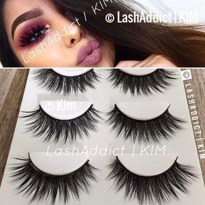 Glam Mink Lashes Eyelashes Makeup New Fur Lilly